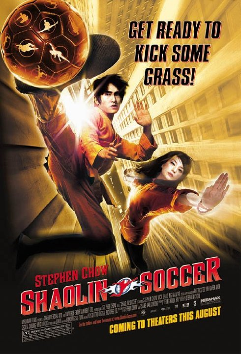 shaolin soccer movie poster directed by Stephen Chow